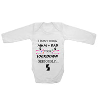 Baby Long Sleeved Vest Bodysuit Grow Mum + Dad Took Lockdown For Newborn Gift