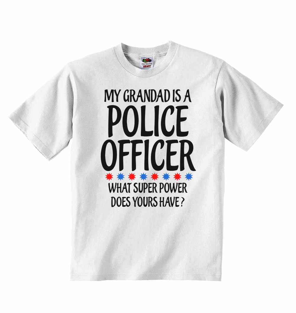 Baby Vests My Grandad Is A Police Officer What Super Power Does Yours Have?
