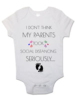 Baby Vest Bodysuit Grow My Parents Took Social Distancing Seriously Newborn Gift
