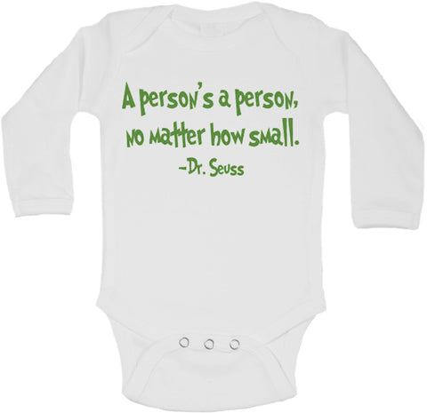 A Person's A Person No Matter How Small - Long Sleeve Vests