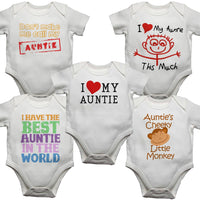 Pack of 5 Auntie Baby Vests