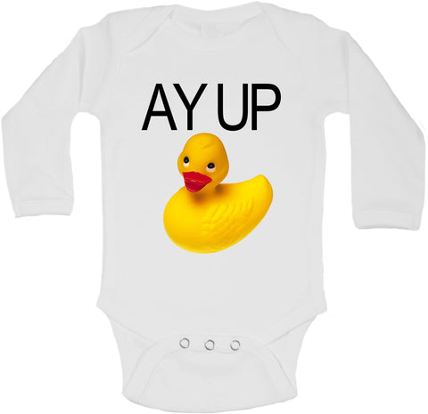 Ay Up Duck Yellow Rubber Duck - Long Sleeve Vests