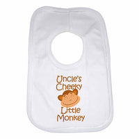 Uncle's Cheeky Little Monkey Baby Bibs