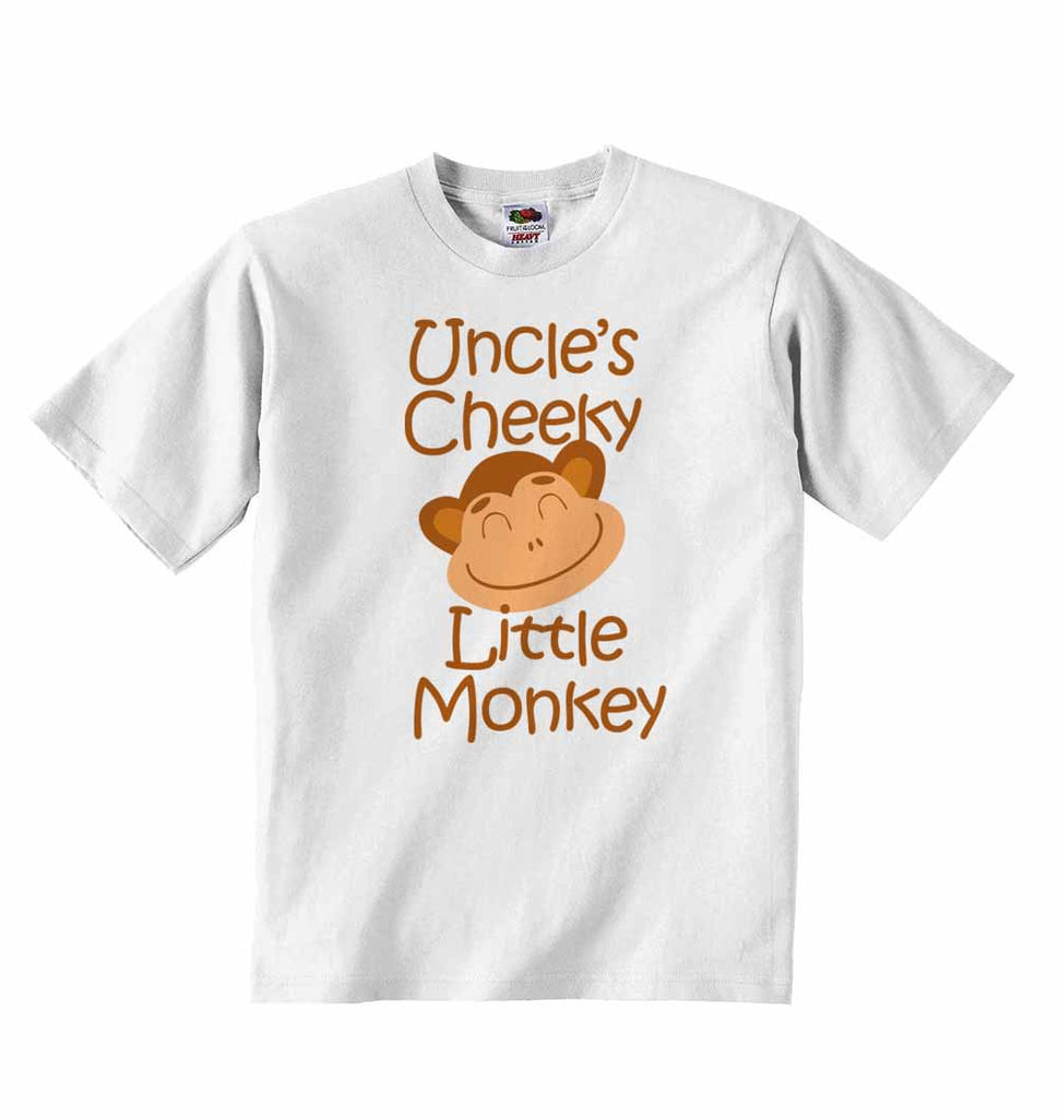Uncle's Cheeky Little Monkey - Baby T-shirt