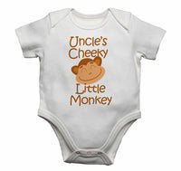 Uncle's Cheeky Little Monkey - Baby Vests Bodysuits for Boys, Girls
