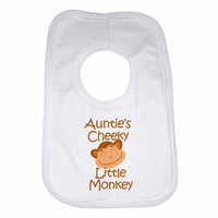 Auntie's Cheeky Little Monkey Baby Bibs