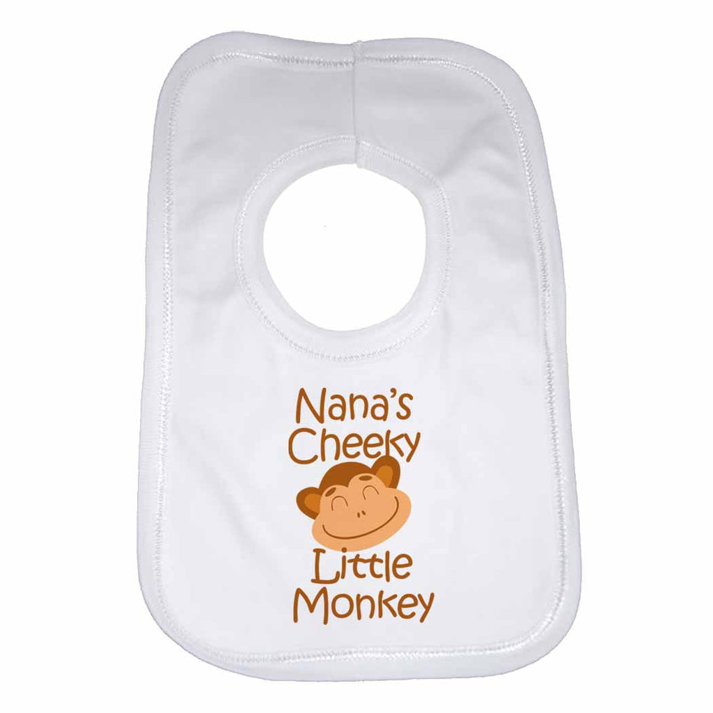 Nana's Cheeky Little Monkey Baby Bibs