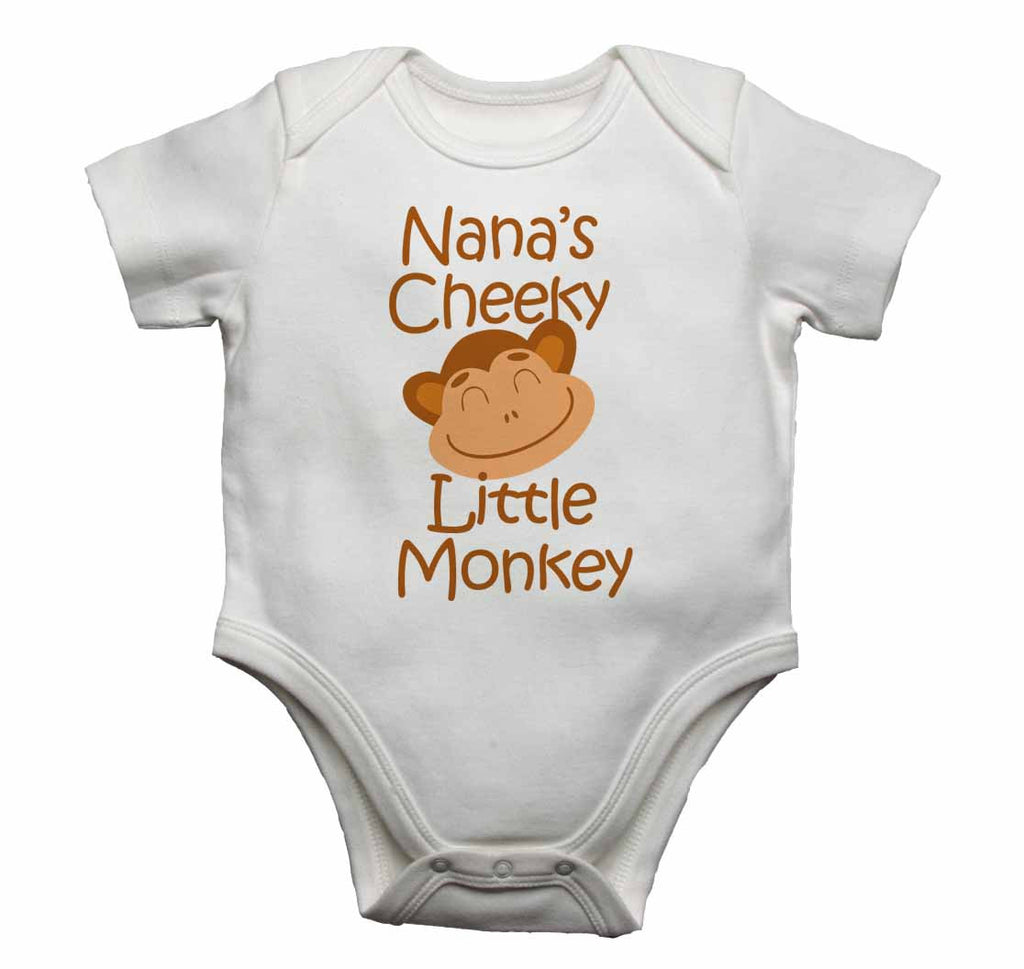 Nana's Cheeky Little Monkey - Baby Vests Bodysuits for Boys, Girls