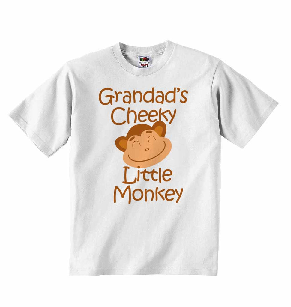 Grandad's Cheeky Little Monkey - Baby T-shirt