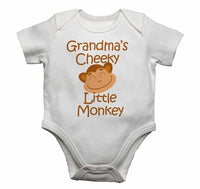 Grandma's Cheeky Little Monkey - Baby Vests Bodysuits for Boys, Girls
