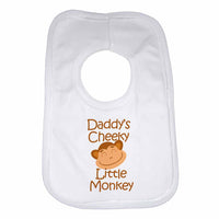 Daddy's Cheeky Little Monkey Baby Bibs