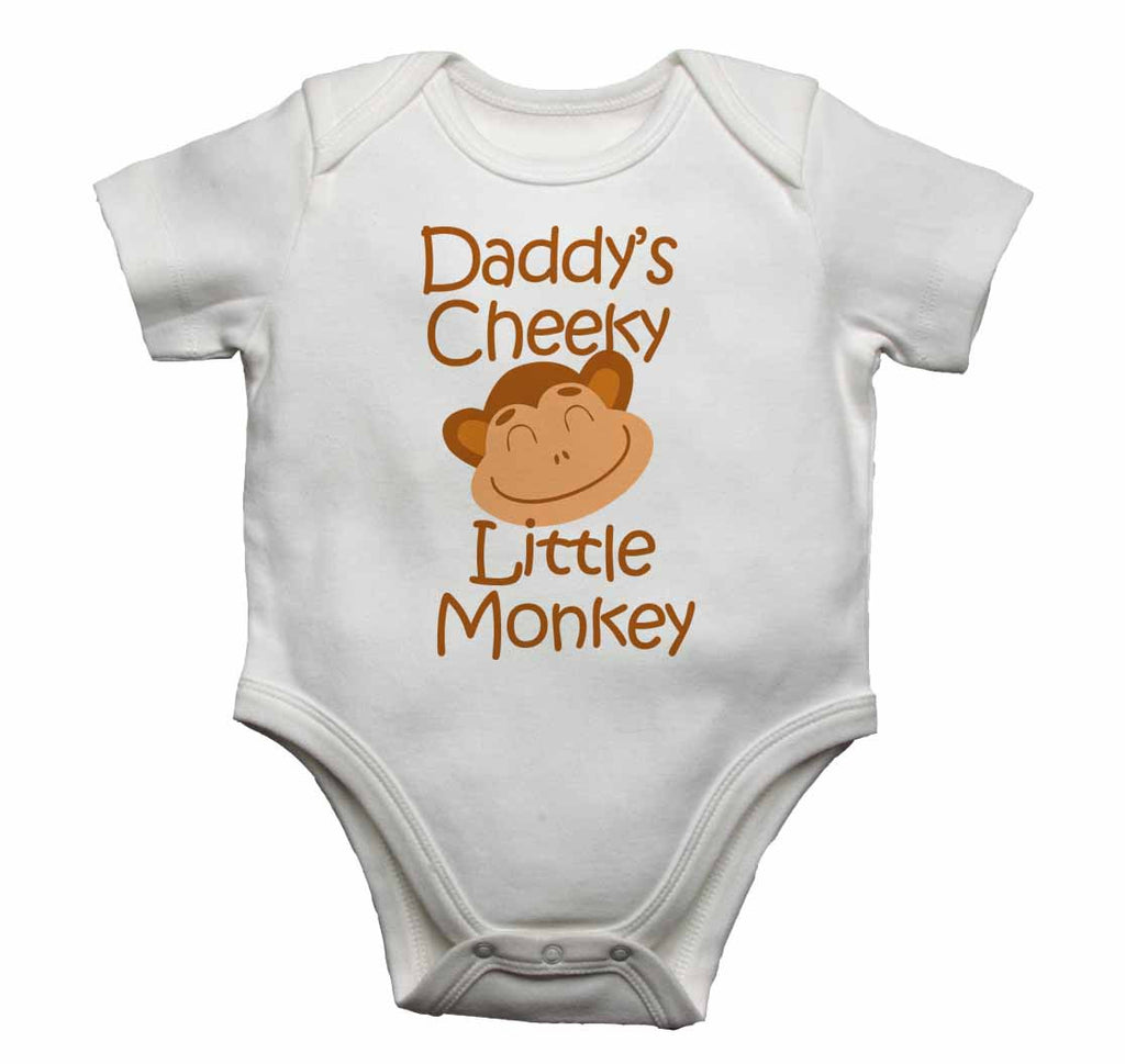 Daddy's Cheeky Little Monkey - Baby Vests Bodysuits for Boys, Girls