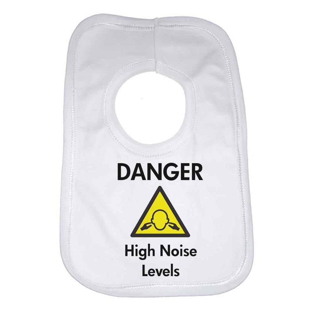 Danger High Noise Levels Baby Bib