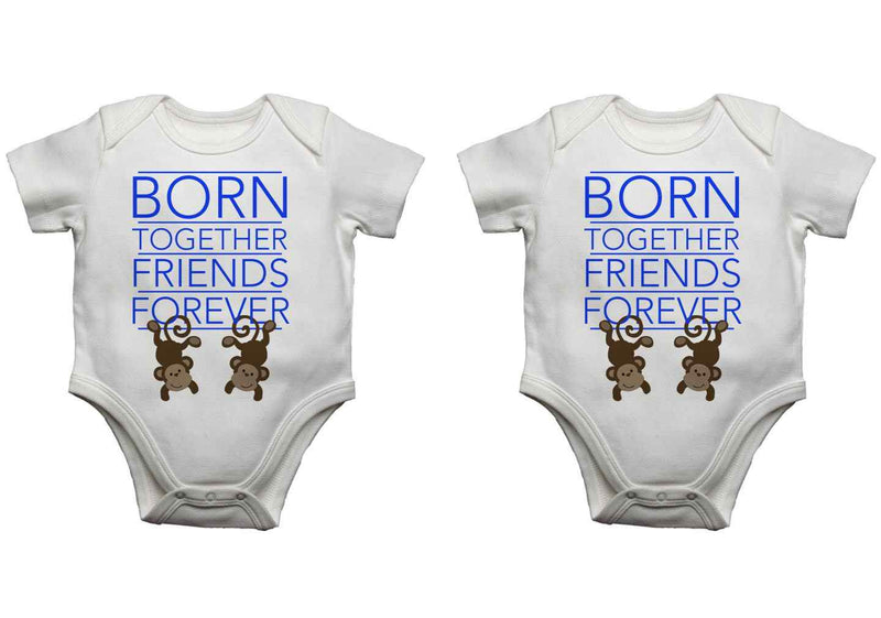 Triplets Baby Vests Bodysuits Baby Grows Born Together Friends Forever Girl