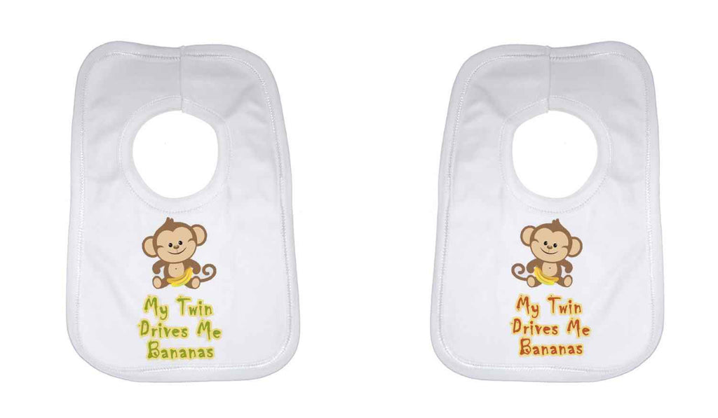 My Twin Drives Me Bananas Twin Baby Bib