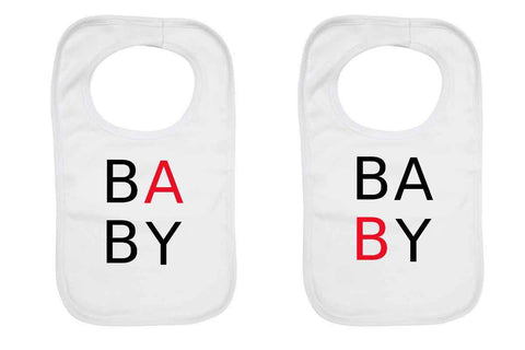 """Baby A"" and ""Baby B"" Twin Baby Bib"