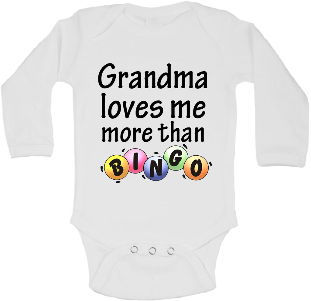 Grandma Loves Me More Than Bingo - Long Sleeve Vests