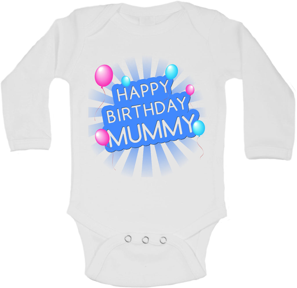 Happy Birthday Mummy - Long Sleeve Vests for Boys