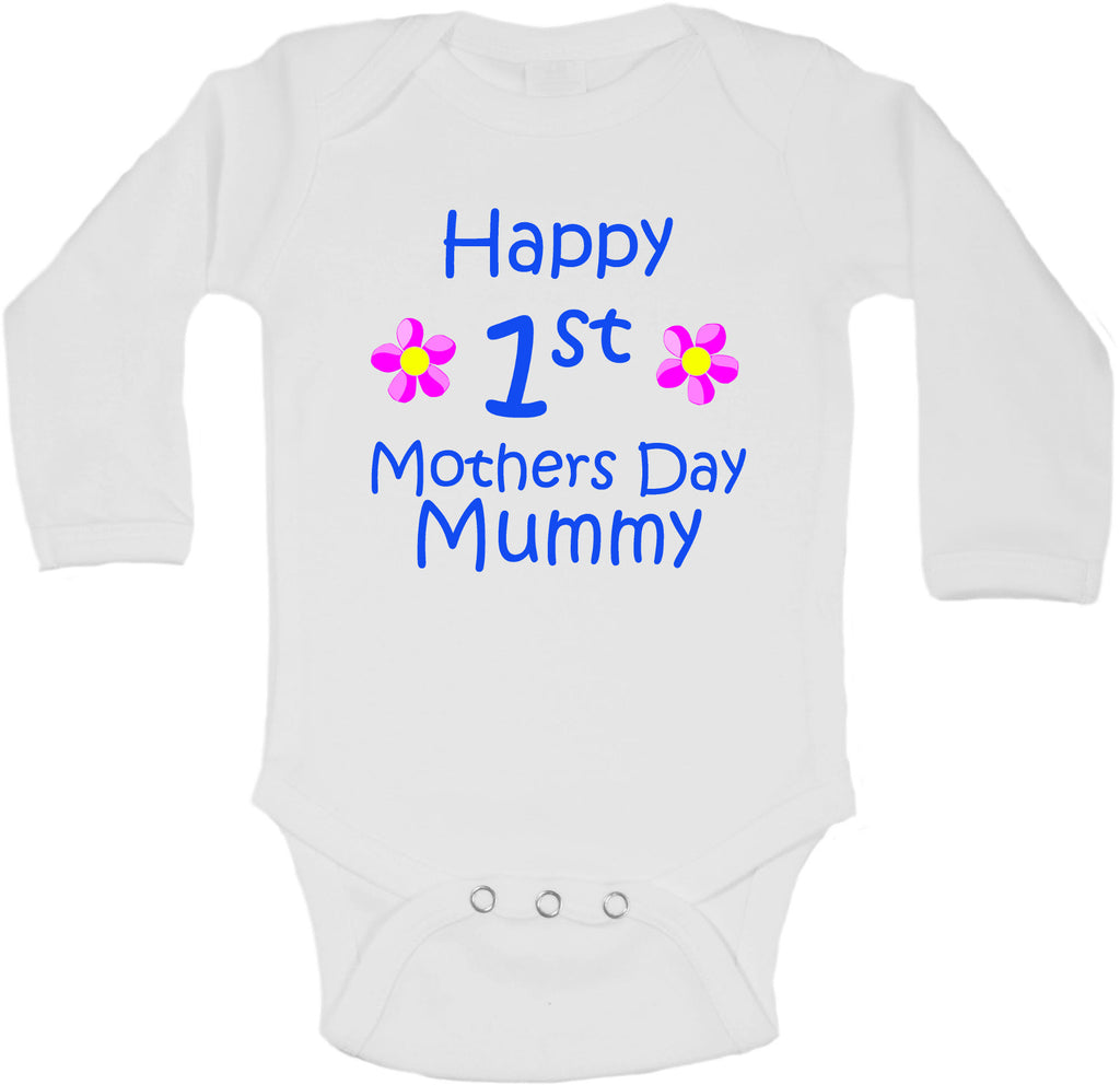 Happy First Mothers Day Mummy - Long Sleeve Vests for Boys