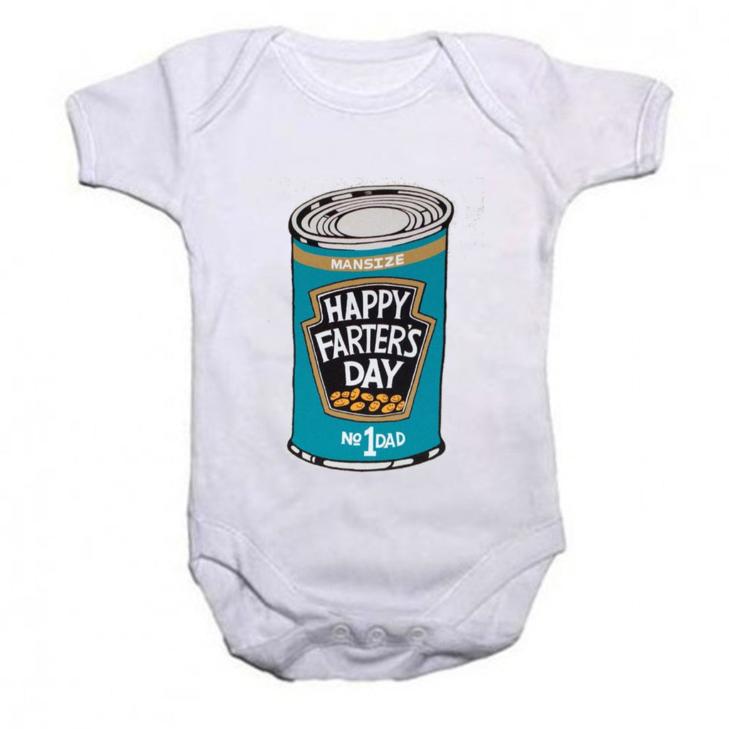 Happy Farters Day Daddy Short Sleeved Fathers Day Baby Vest