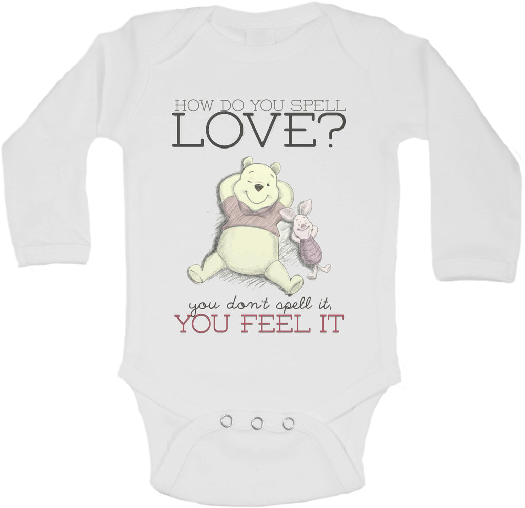 How Do You Spell Love Pooh Quote - Long Sleeve Vests for Girls