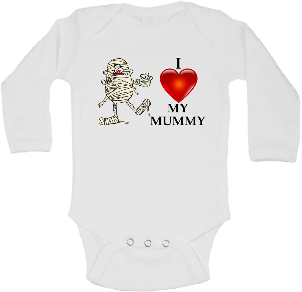 I Love My Mummy Halloween - Long Sleeve Vests