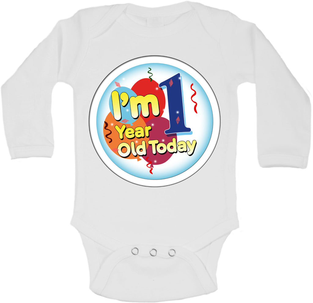 Im 1 Year Old Today - Long Sleeve Vests