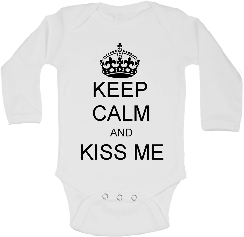 Keep Calm And Kiss Me - Long Sleeve Vests