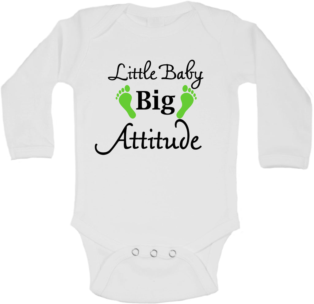 Little Baby Big Attitude - Long Sleeve Vests