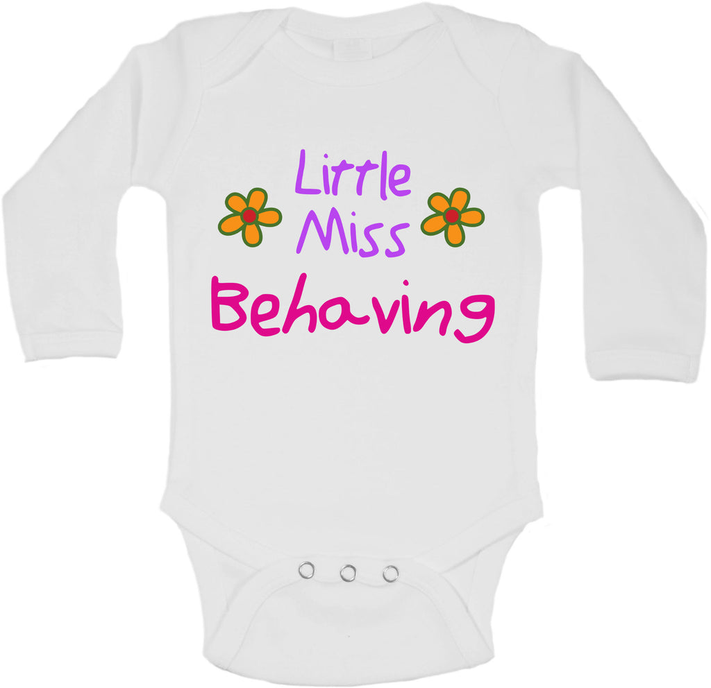 Little Miss Behaving - Long Sleeve Vests