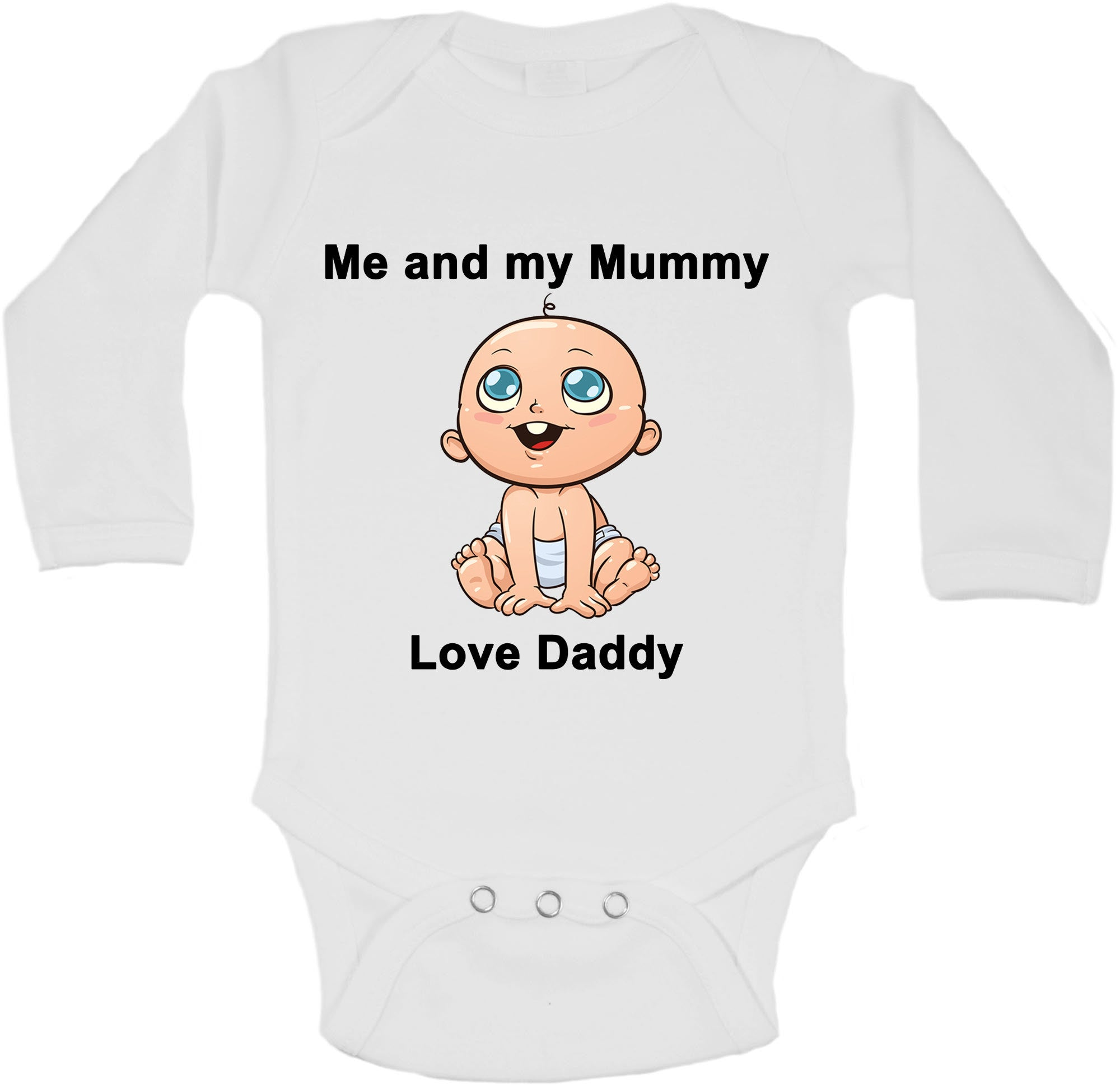 Me And My Mummy Love Daddy Long Sleeve Vests