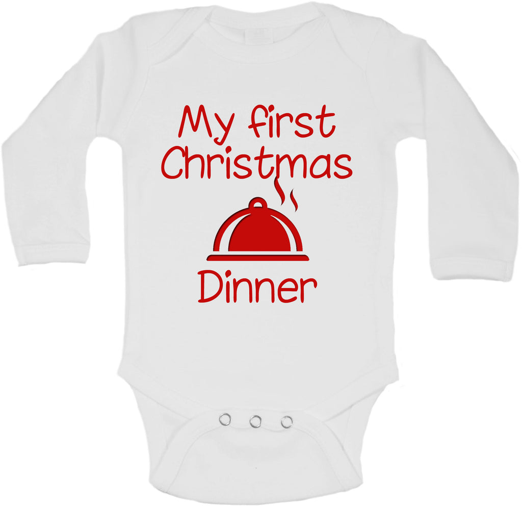 My First Christmas Dinner - Long Sleeve Vests