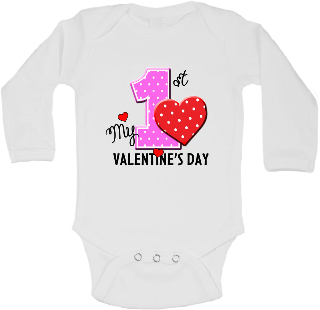 My First Valentines Day - Long Sleeve Vests