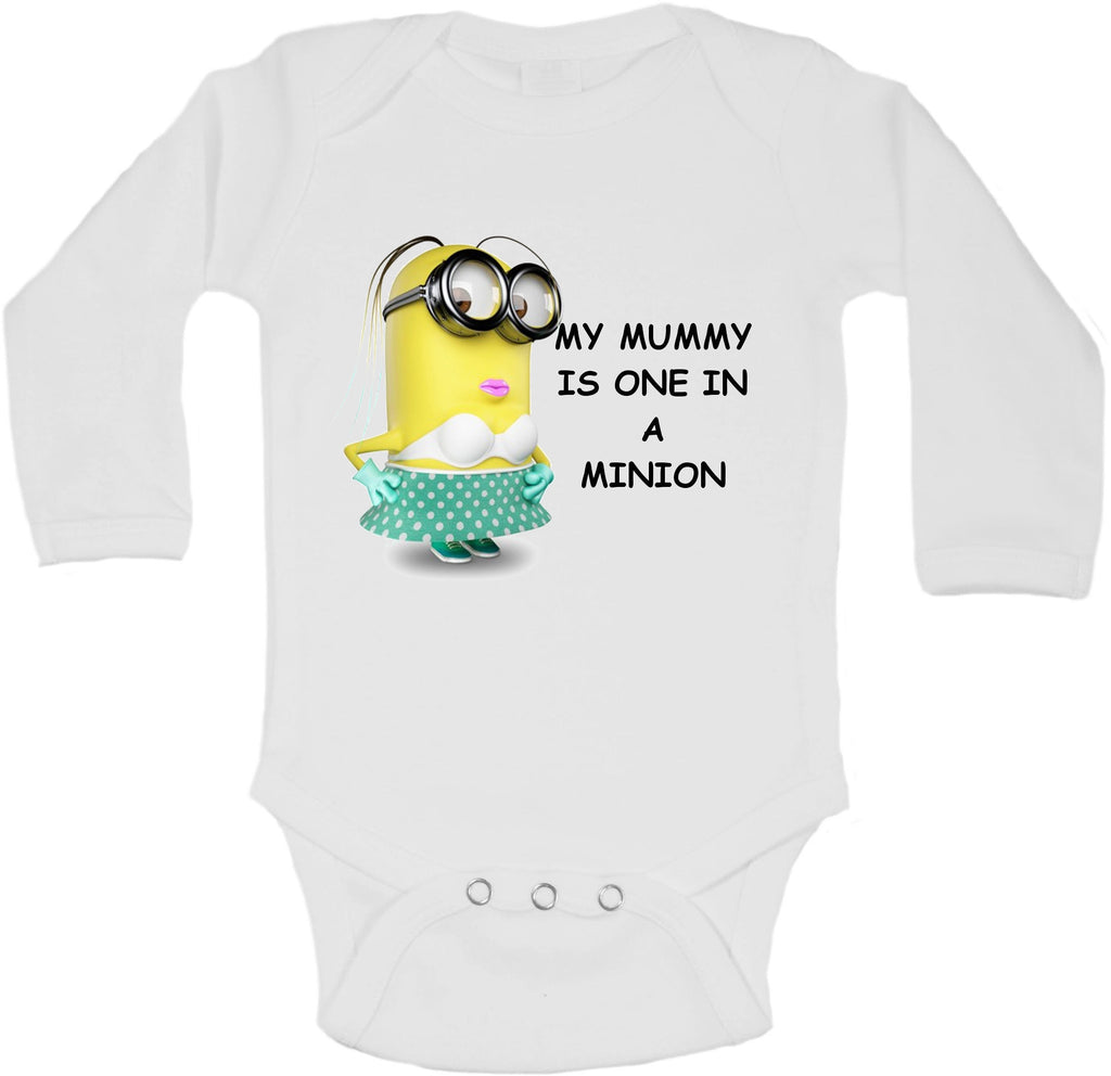 My Mummy Is One In A Minion - Long Sleeve Vests