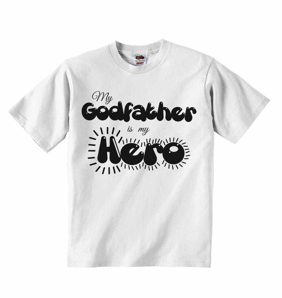 My Godfather is my Hero - Baby T-shirts
