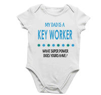 Soft Baby Vests My Dad a Is A Key Worker What Super Power Does Yours Have? Present