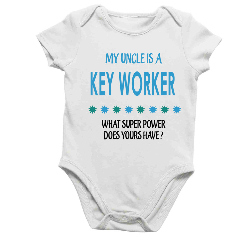 Soft Baby Vests My Uncle a Is A Key Worker What Super Power Does Yours Have? Present