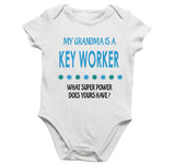 Soft Baby Vests My Grandma a Is A Key Worker What Super Power Does Yours Have? Present