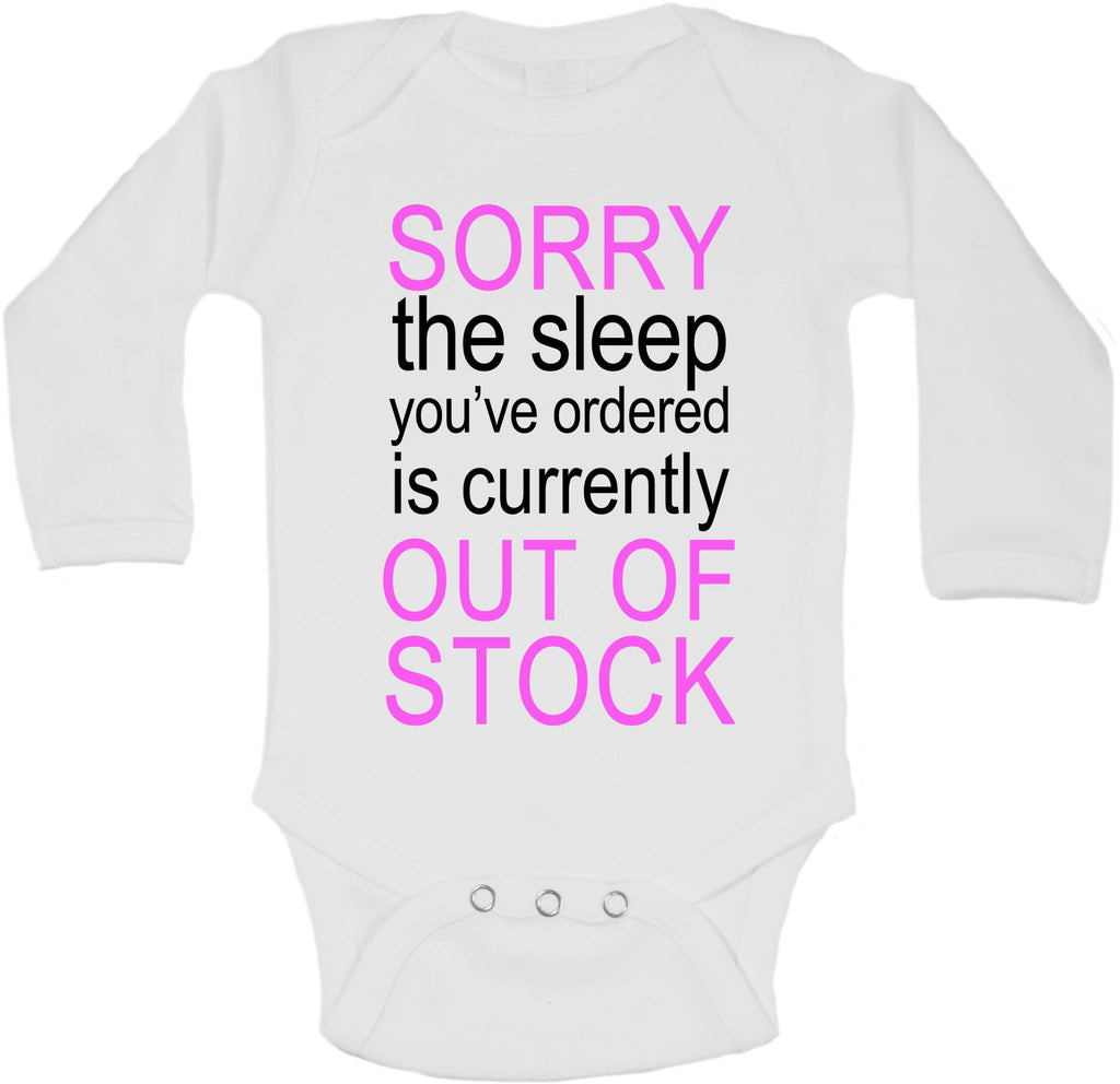 Sorry The Sleep You Ordered is Currently Out of Stock - Long Sleeve Vests for Girls