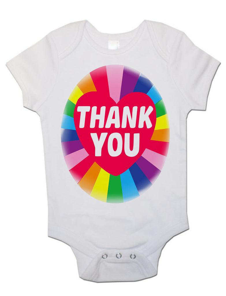 Soft Cotton Baby Vests Bodysuits Grow Rainbow Thank You for Newborn Gift Key Workers