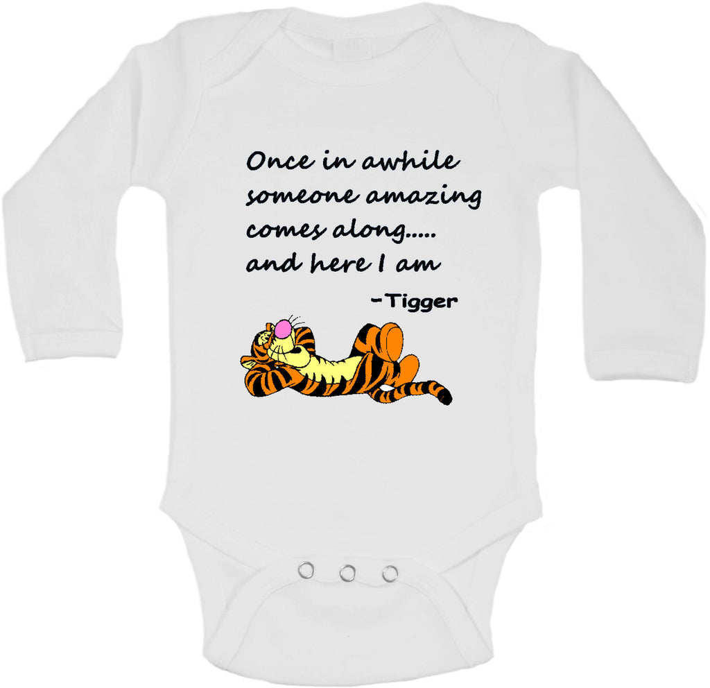 Once in a While Someone Amazing Comes Along... and here I am by Tigger - Long Sleeve Vests