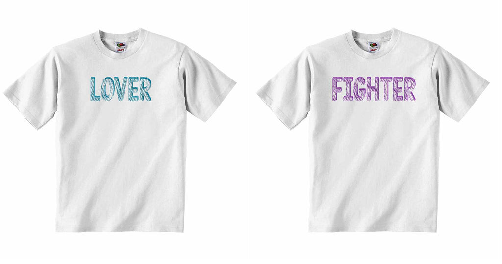 Lover Fighter, Twin - Baby T-shirt