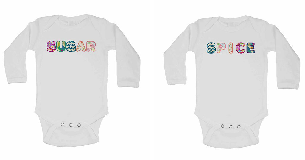 Suger Spice - Twin - Long Sleeve Baby Vests