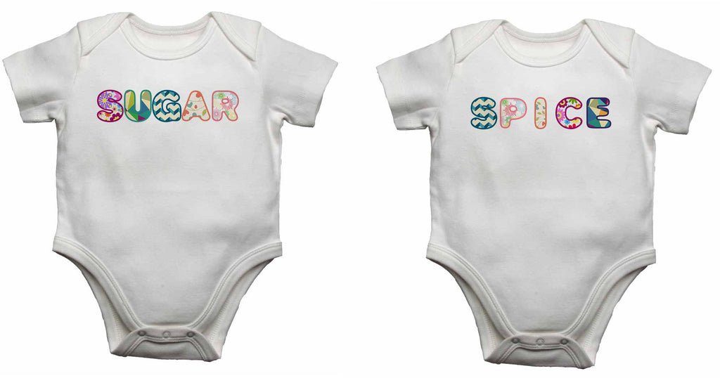 Suger Spice Twin - Baby Vests Bodysuits for Boys, Girls