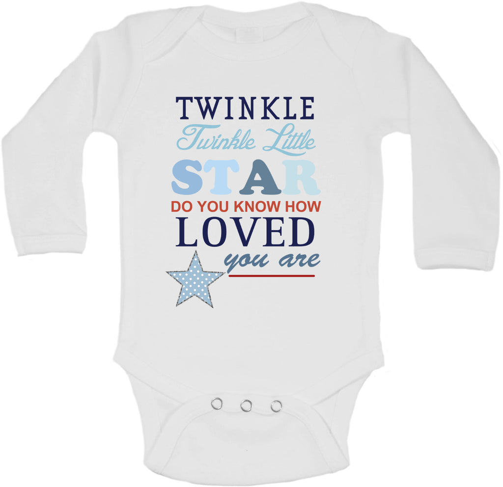 Twinkle Twinkle Little Star - Long Sleeve Vests for Boys