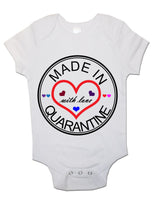 Soft Cotton BabyVest Bodysuit Grow Made in Quarantine with Love for Newborn Gift