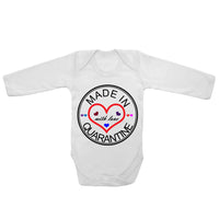 Baby Long Sleeved Vest Bodysuit Grow Made in Quarantine with Love Newborn Gift