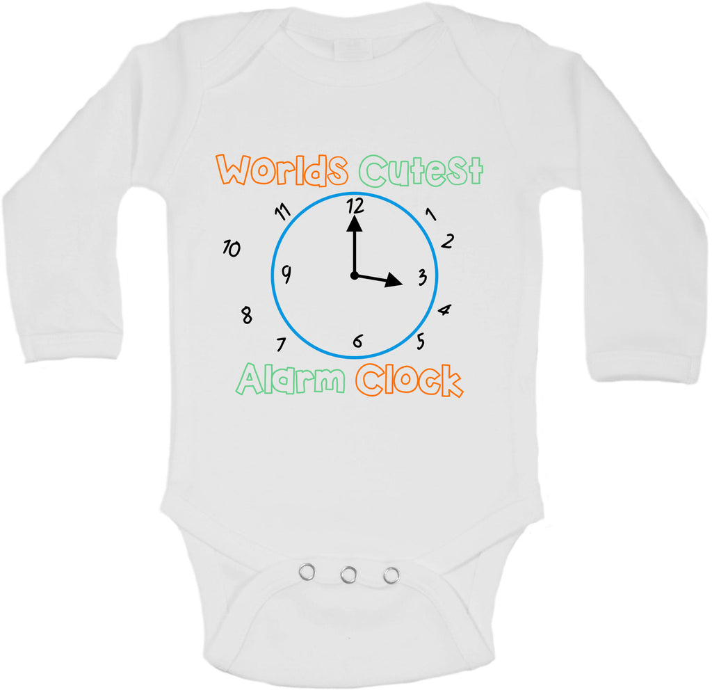 Worlds Cutest Alarm Clock - Long Sleeve Vests for Girls