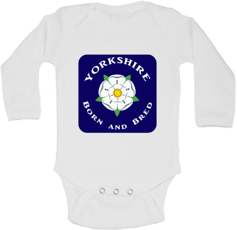 Yorkshire Born And Bred - Long Sleeve Vests for Girls