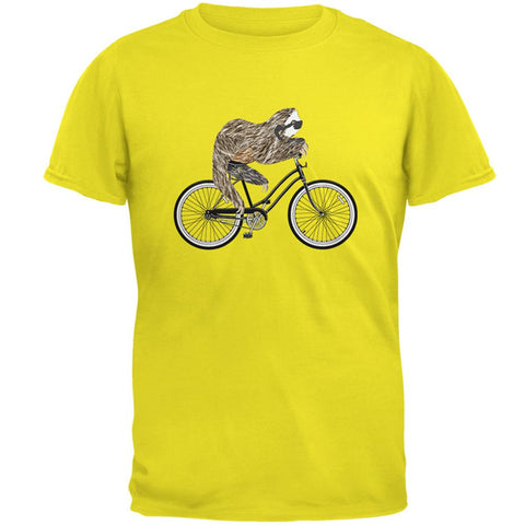 Bicycle Sloth Mens T Shirt